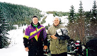 Skip Merriam with Marshall Orr, two members of a team of old friends making an annual trek.