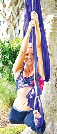 PHOTO SUBMITTEDKathy's skills include aerial yoga.