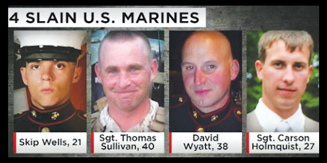 Four Marines killed in Chattanooga. SUBMITTED PHOTOS