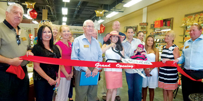 The Chamber of Commerce ribbon cutting ceremony officially welcomed Dolcezza to Marco Island.