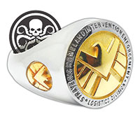 Ring featuring the agency  insignia from Marvel's Agents of S.H.I.E.L.D. SUBMITTED PHOTOS