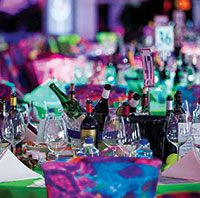 Stunning table décor fromthe 2015 Wine Festival. PHOTO BY MILA BRIDGER PHOTOGRAPHY