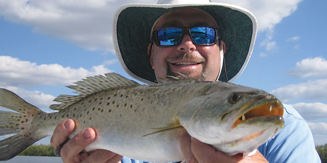 Capt. Pete Rapps with a speckled sea trout. SUBMITTED PHOTO