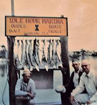 Joe Pettus and Stith Noe at Idle Hour Marina, 1971. Drop Anchor at middle right.