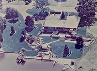 Peggy Ritschard's South Bend, Indiana residence. Peggy still does all the gardening and housekeeping.