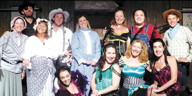 "The cast of the Island Theater Company's  production of ""The Saga of Roaring Gulch."" SUBMITTED PHOTO"