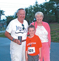 Maggie Poling with her grandparents before the 5K.