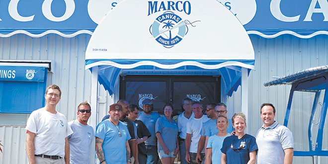 Employees are family at Marco Canvas. Photo by Jessica Hernstadt