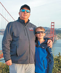 Ryan and his father Robert in front of the Golden Gate Bridge. Submitted Photos
