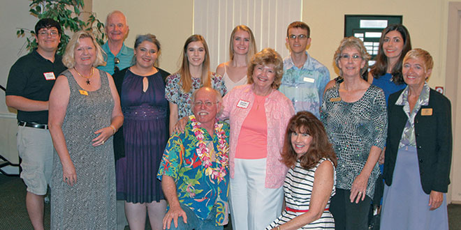 The scholarship recipients as well as members of MIFA and Artist of the Year, JRobert. Photos by Samantha Husted