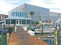 The new 142-boat storage facility under construction at Rose Marina.