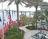 View of the Jolley Bridge from the Marco Island Yacht Club.