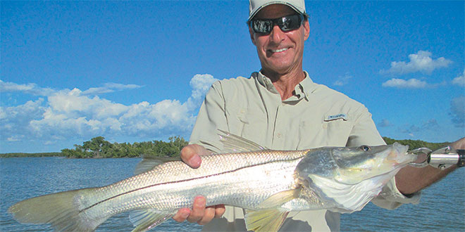 Bob caught a nice catch and release snook on a Captain Rapps Charter. Photo by Capt. Pete Rapps