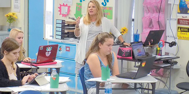 Lori Galiana at work in her classroom. Submitted Photos