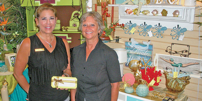 Tracy Bower, left, and Nancy Carrington of Marco Island Florist Home and Gifts. Photos by Don Manley