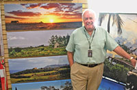 Naples photographer R. Clark Lindberg, the featured artist at a recent Wine Wednesday.