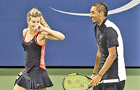 Mixed doubles team of Bouchard and Kyrgios keeping things fun at the U.S. Open.