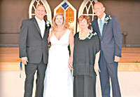 Bill and Cassandra Gwinn with Nancy and Barry at their May 28th wedding in Canton, N.C. These guys really seem to like each other. Submitted Photos