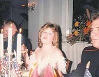Cassandra Ferguson, 17, meets USMC Private Bill Gwinn, 23, at the 1987 Marine Corps Ball, St. Mawgan, England.
