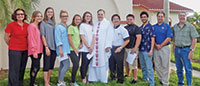 At San Marco Catholic Church, a blessing before the journey. Submitted Photos