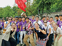 United in friendship: San Marco pilgrims and pilgrims from China.