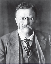 Teddy Roosevelt, who in 1908 backed Attorney General Charles J. Bonaparte in creating the organization that became the FBI.
