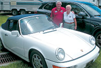 Chris and Jenny Branston and their 1991 Porsche 911 Cabriolet.