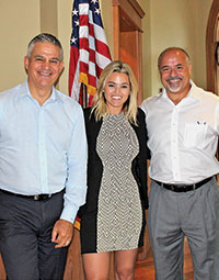 Photo by Val SimonThe trio of David R. Bartley, Sr., Morgan Fry and Anthony Fortino recently presented the TRIO project to ENCA members with a detailed presentation followed by a question and answer session.