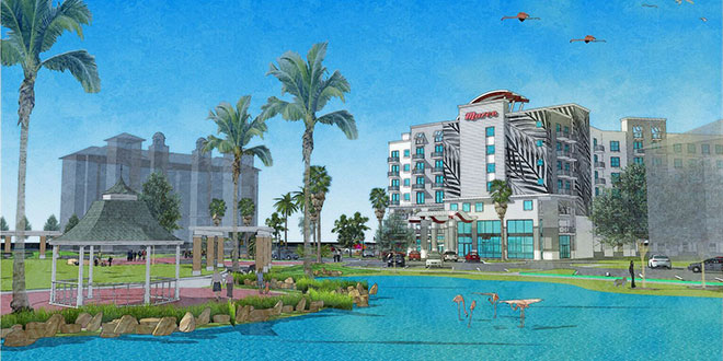 Rendition of proposed hotel. Submited