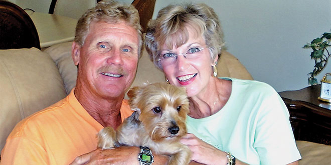 Phil, Maureen and Buster. Submitted Photo