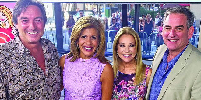 Submitted Photo: From left: Derek Wakefield, Hoda Kotb, Kathie Lee Gifford and Randall Kenneth Jones.
