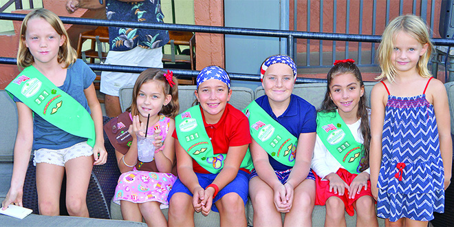 Photos by Jessica:  Hernstadt Girl Scout Troop 331 led the crowd in the Pledge of Allegiance.