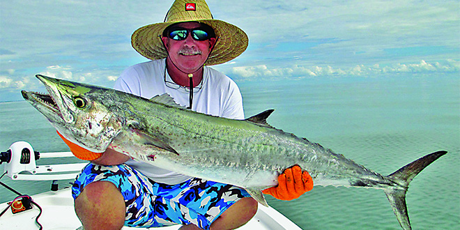 Photos by Capt. Pete Rapps: Capt Kurt with a nice King Mackerel.