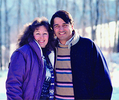 Roy and Debbie in Mount Ascutney, Vermont (1986).