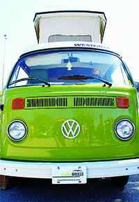 Coastal Breeze News Publisher Val Simon's 1978 Volkswagen Westfalia Bus. The bus took home first place in the Classic 70s category.