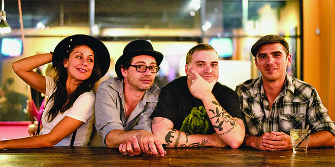 Photo by Stills By Hernan |  From left: Christina Ortega, Julio Pintos, Mayo Coates, and Taylor Freydberg of The Woodwork.