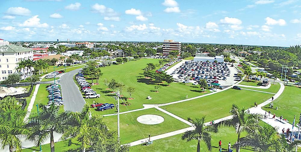 Aerial view of Veterans Community Park Photo by Steve Stefanides