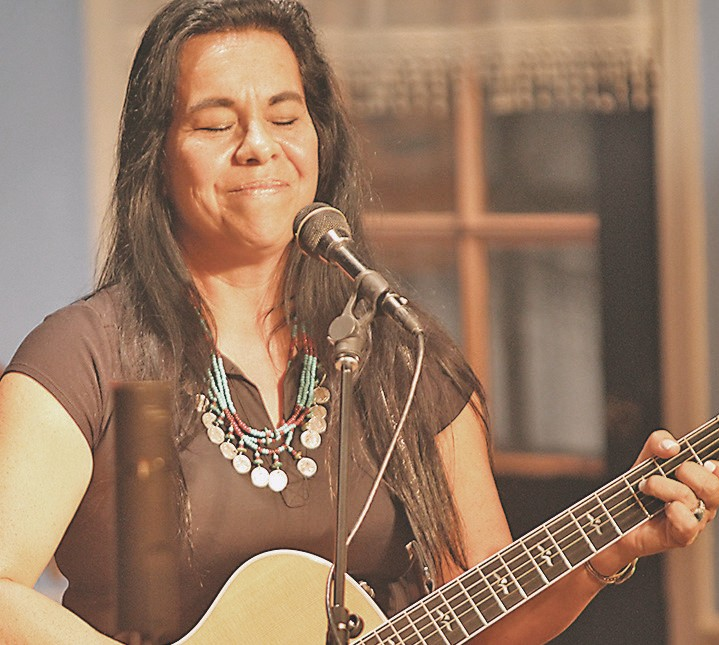 Seminole Indian Rita Youngman touched the audience with her original songwriting about life on the reservation.